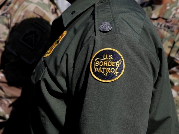 A U.S. Border Patrol agent at the San Ysidro port of entry from Mexico in San Diego, California, November 9, 2018