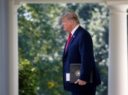 U.S. President Donald Trump arrives to deliver remarks on the United States-Mexico-Canada Agreement (USMCA) at a news conference in the Rose Garden of the White House in Washington, U.S., October 1, 2018