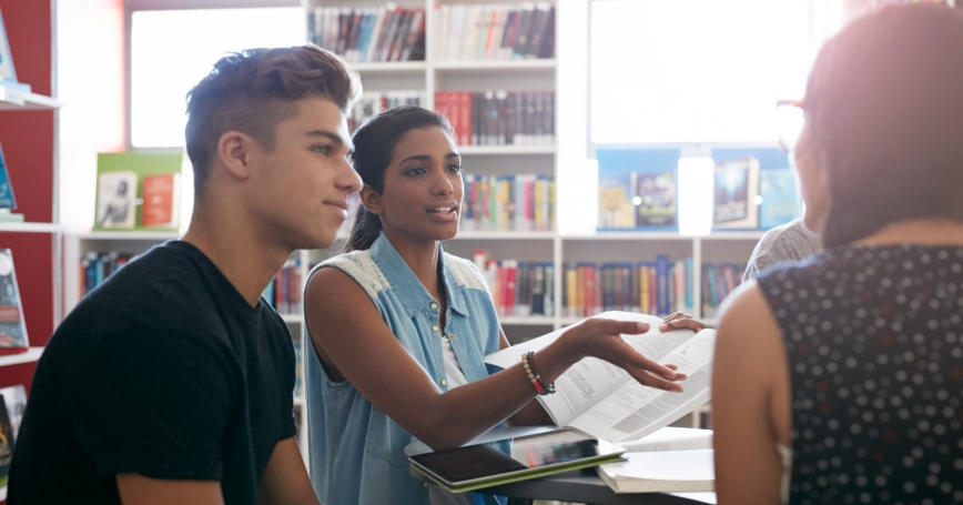 Students having discussion