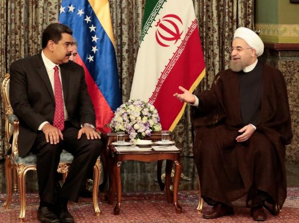 Venezuela's President Nicolas Maduro meets with Iran's President Hassan Rouhani in Tehran, Iran, October 22, 2016, photo by Miraflores Palace/Handout/Reuters