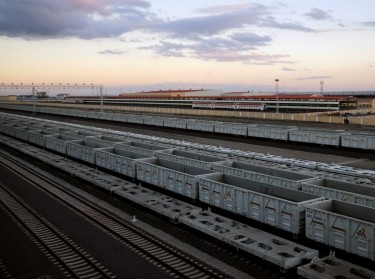 A view of the cargo terminal of the Standard Gauge Railway line constructed by the China Road and Bridge Corporation and financed by the Chinese government, Nairobi, Kenya, May 31, 2017, photo by Thomas Mukoya/Reuters