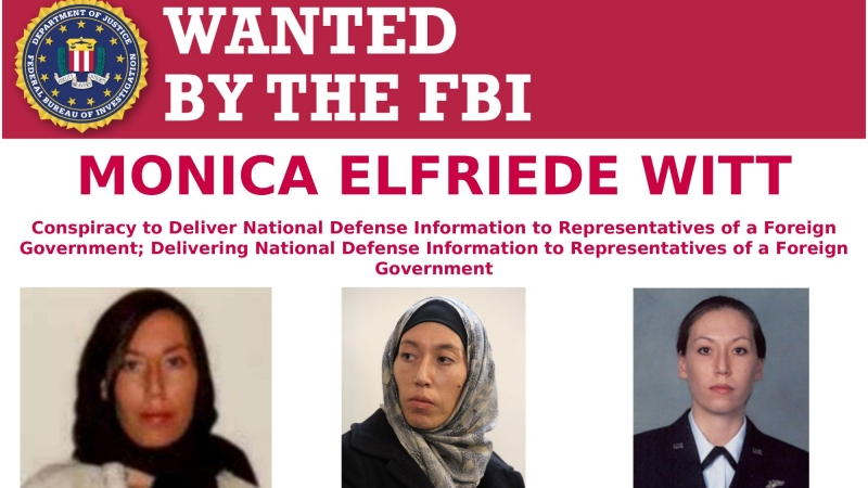Monica Elfriede Witt wanted poster, photo courtesy of FBI