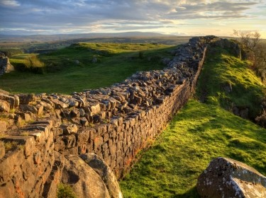 A stretch of Hadrian's Wall at Walton's Crags in Northumberland, England, photo by Gannet77/Getty Images