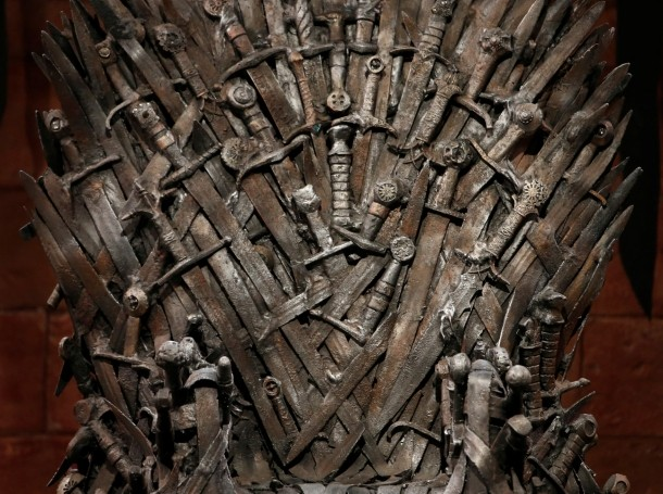 The Iron Throne on the set of the television series Game of Thrones in Belfast, Northern Ireland, June 24, 2014, photo by Phil Noble/Reuters