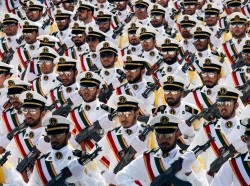 Members of the Iranian Revolutionary Guard Navy march during a parade in Tehran, Iran, September 22, 2011, photo by Stringer Iran/Reuters