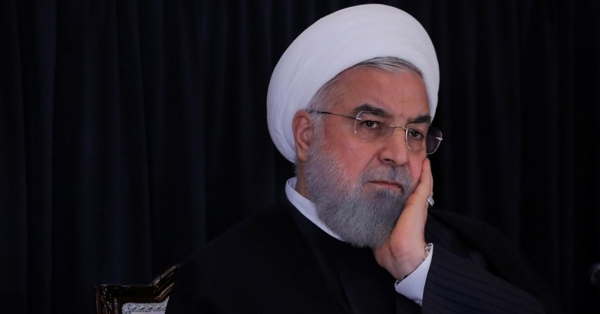Iran's President Hassan Rouhani listens during a news conference at U.N. headquarters in New York, September 26, 2018, photo by Brendan McDermid