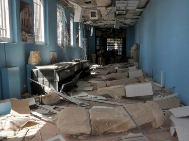 Damaged artifacts inside the museum of the historic city of Palmyra, Syria, March 27, 2016, photo by SANA/Reuters