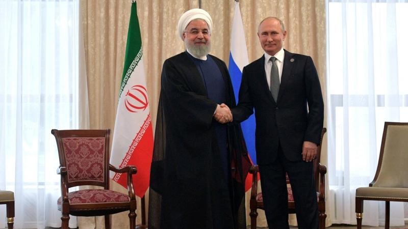Iran's President Hassan Rouhani and Russia's President Vladimir Putin attend a meeting on the sidelines of the Shanghai Cooperation Organisation summit in Bishkek, Kyrgyzstan, June 14, 2019, photo by Sputnik/Alexei Druzhinin/Kremlin via Reuters