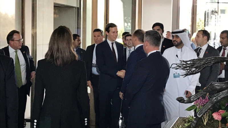 "White House senior adviser Jared Kushner arrives for the U.S.-hosted ""Peace to Prosperity"" conference, in Manama, Bahrain, June 25, 2019, photo by Matt Spetalnick/Reuters"