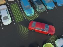 Car parking with autonomous self-driving parking assistant, photo by vchal/Getty Images