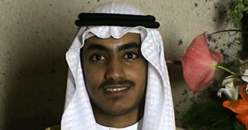Hamza bin Laden on an undetermined date at his wedding, video still by CIA