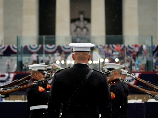 U.S. Marines hold military drills during Fourth of July Independence Day celebrations in Washington, D.C., July 4, 2019, photo by Joshua Roberts/Reuters