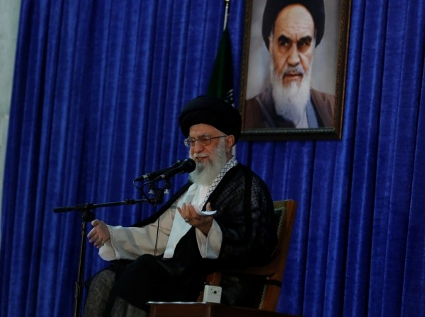 Iran's Supreme Leader Ayatollah Ali Khamenei delivers a speech during a ceremony marking the death anniversary of the founder of the Islamic Republic Ayatollah Ruhollah Khomeini, in Tehran, Iran, June 4, 2017, photo by TIMA/Reuters