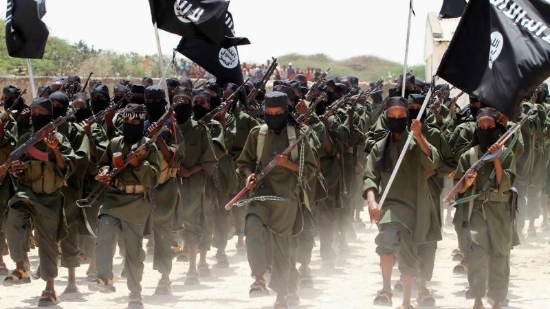 New recruits belonging to Somalia's al-Qaeda-linked al Shabaab group march during a parade at a military training base in Afgoye, Somalia, February 17, 2011