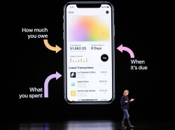 Jennifer Bailey, VP of Apple Pay at Apple, speaks about the Apple Card during an Apple special event in Cupertino, California, March 25, 2019, photo by Stephen Lam/Reuters