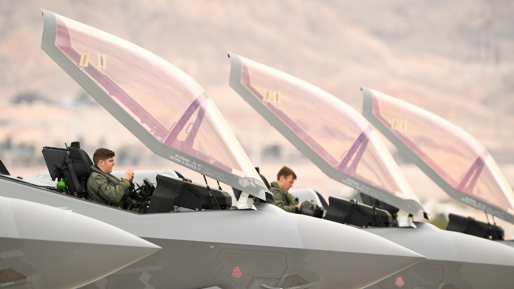 Pilots from the 388th Fighter Wing's 4th Fighter Squadron participating in Red Flag 19-1 at Nellis AFB, Nevada, January 31, 2019, photo by R. Nial Bradshaw/U.S. Air Force