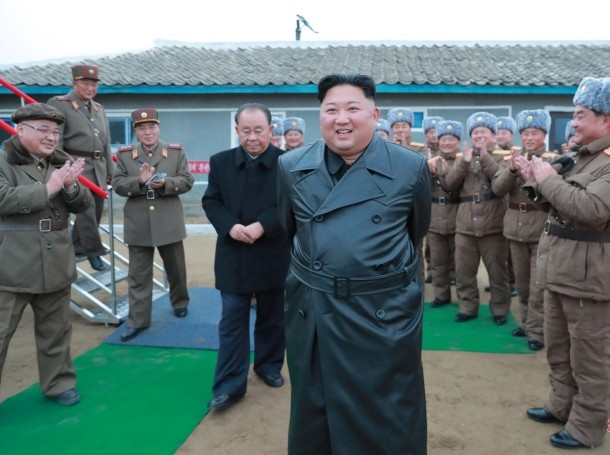 North Korean leader Kim Jong Un oversees a super-large multiple launch rocket system test in this undated picture released by North Korea's Central News Agency (KCNA) on November 28, 2019, photo by KCNA/Reuters