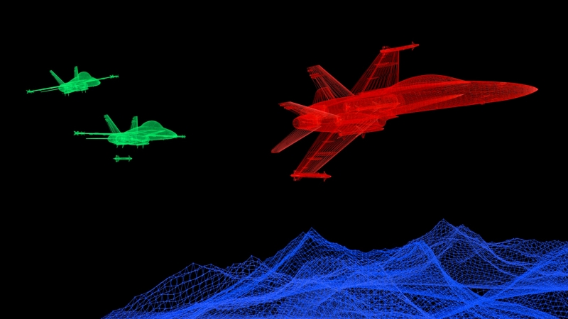 Computer simulation of military aircraft and missiles, photo by Devrimb/Getty Images