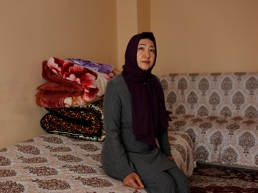 Gulbahar Jelilova, an ethnic Uighur activist from Kazakhstan, poses for a photograph in Istanbul, Turkey, November 16, 2018, photo by Murad Sezer/Reuters