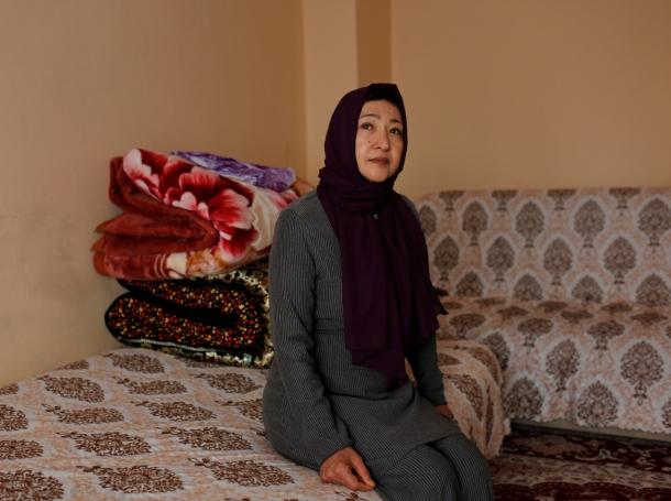 Gulbahar Jelilova, an ethnic Uighur activist from Kazakhstan, poses for a photograph in Istanbul, Turkey, November 16, 2018, photo by Murad Sezer/Reuters
