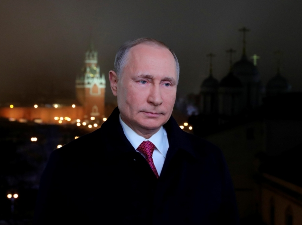 Russian President Vladimir Putin makes his annual New Year address to the nation in Moscow, Russia, December 31, 2019