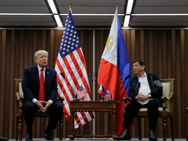 U.S. President Donald Trump holds a bilateral meeting with President of the Philippines Rodrigo Duterte alongside the ASEAN Summit in Manila, Philippines, November 13, 2017, photo by Jonathan Ernst/Reuters