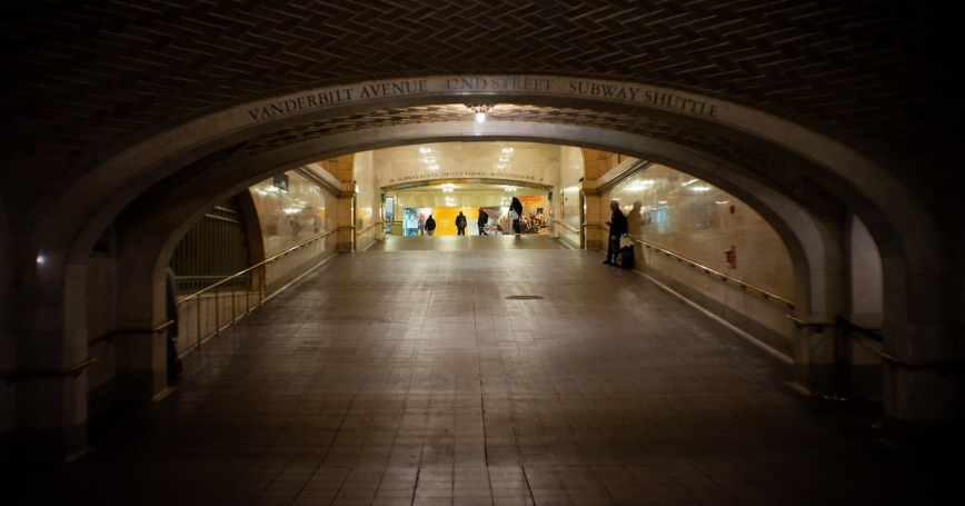 People walk around an almost empty Grand Central Terminal as the coronavirus disease (COVID-19) outbreak continues in New York City, U.S., March 29, 2020, photo by Eduardo Munoz/Reuters