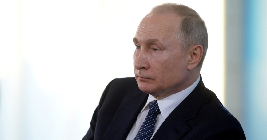 Russian President Vladimir Putin attends a meeting with public members in Sevastopol, Crimea March 18, 2020, photo by Alexei Druzhinin/Reuters