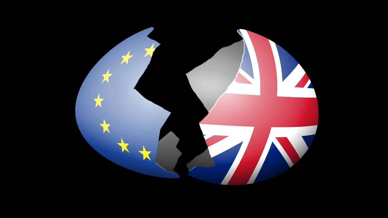 Eggshell with UK and EU flag pattern, photo by Panorama Images/Getty Images