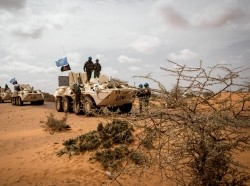 MINUSMA Peacekeepers, during Operation Military 'FRELANA' to protect civilians and their property in Gao, Mali, July 11-12, 2017, photo by Harandane Dicko/ CC BY-NC-SA 2.0