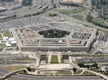 An aerial view of the Pentagon building in Washington D.C., June 15, 2005, photo by Jason Reed/Reuters