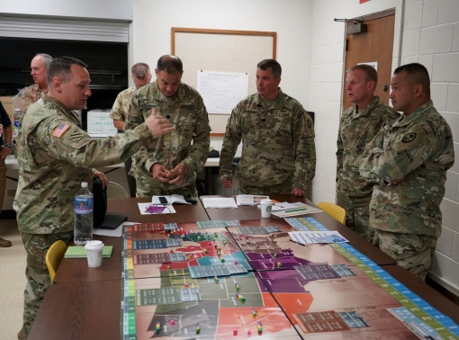 The Hawaii National Guard hosting a wargame at its Joint Force Headquarters in Honolulu, HI, July 10, 2018