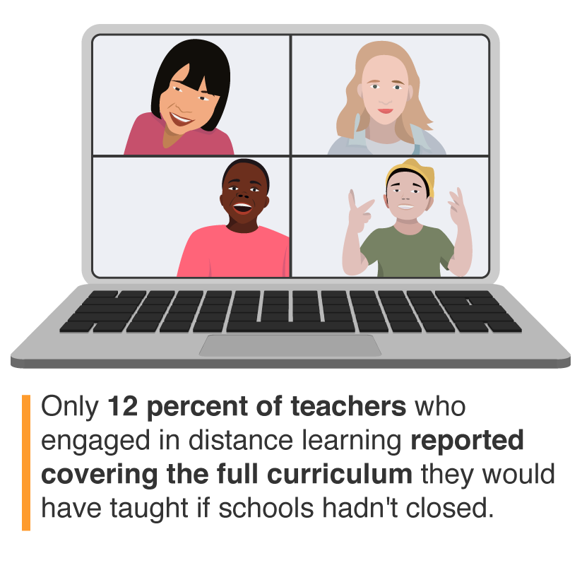 A laptop displaying distance learning, image by Alyson Youngblood/RAND Corporation