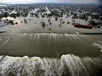 Aerial photograph of the devastation caused in the greater New Orleans area following Hurricane Katrina, August 30, 2005, photo by Vincent Laforet/Pool/Reuters