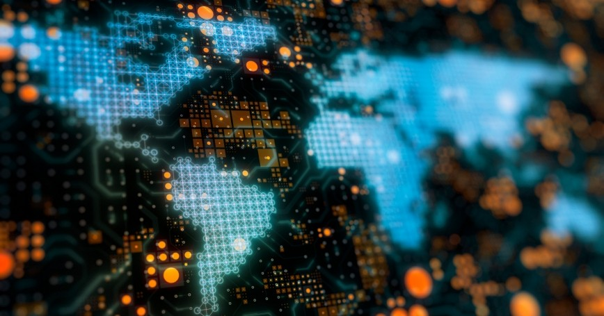 Digital world map, photo by dem10/Getty Images