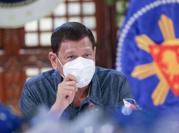 Philippines President Rodrigo Roa Duterte updates the nation on the government's efforts in addressing COVID-19 at the Malago Clubhouse in Malacañang on May 11, 2020, photo by Ace Morandante/Philippines  Office of the President