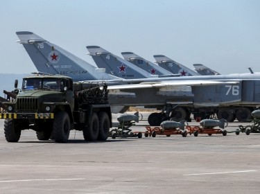 Russian military jets at Khmeimim Air Base in Syria, June 18, 2016, photo by Vadim Savitsky/Russian Defense Ministry via Reuters