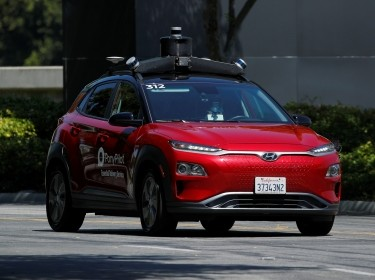 Toyota-backed self driving company Pony.ai begins to provide autonomous electric vehicles to deliver packages from local e-commerce platform Yamibuy during the outbreak of COVID-19 in Irvine, California, April 28, 2020, photo by Mike Blake/Reuters