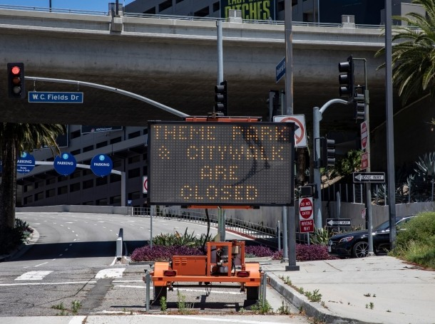 Universal Studios and CityWalk are closed due to COVID-19 concerns in Hollywood, California, May 14, 2020, photo by Ted Soqui/Reuters