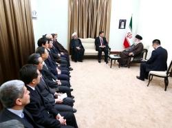 Chinese President Xi Jinping and his entourage meet with Ayatollah Khamenei in Iran, January 23, 2016, photo by Khamenei.ir / CC BY 4.0