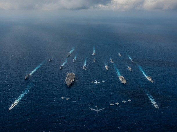 U.S. Navy vessels in the Philippine Sea, November, 2018, photo by MC2 Kaila V. Peters/U.S. Navy