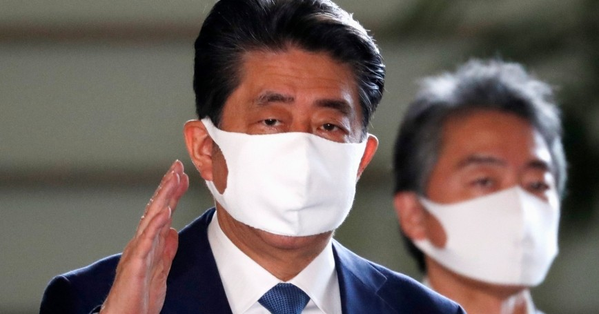 Japan's Prime Minister Shinzo Abe arrives at his official residence in Tokyo, Japan, August 28, 2020, photo by Issei Kato/Reuters