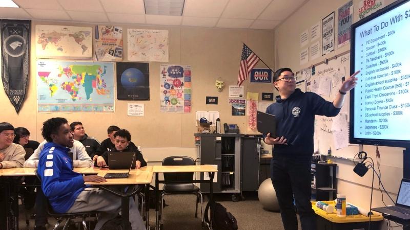 Jayson Chang teaches civics at Santa Teresa High School in San Jose, Calif., photo courtesy of Jayson Chang