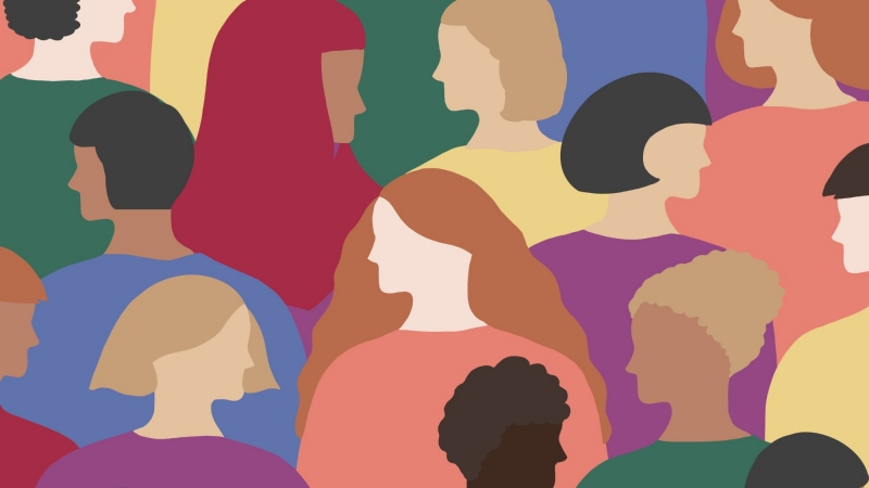 Illustration of a diverse group of women, photo by Ada Yokota/Getty Images