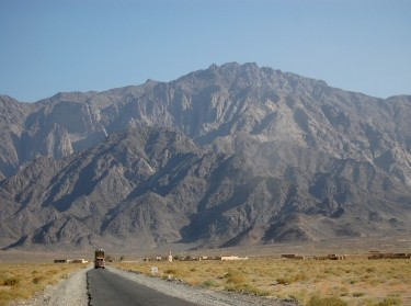 Pakistan's mountain range known for historical nuclear tests seen from London Road, photo by commoner28th/Getty Images