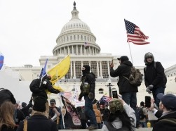 Trump supporters on the lawn of the U.S. Capitol in Washington, DC, January 6, 2021, photo by Lenin Nolly/Sipa USA/Reuters