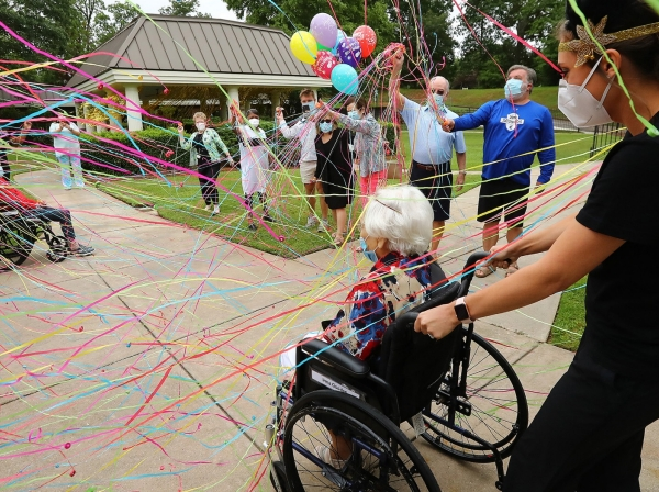 COVID-19 survivor Irma Gooden celebrates her 100th birthday in Jackson, Georgia, June 16, 2020, photo by Curtis Compton/Atlanta Journal-Constitution/TNS/ABACAPRESS.COM via Reuters