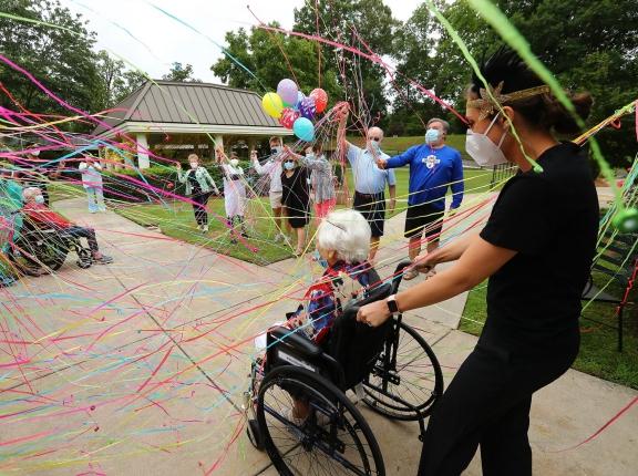 COVID-19 survivor Irma Gooden celebrates her 100th birthday in Jackson, Georgia, June 16, 2020, photo by Curtis Compton/Atlanta Journal-Constitution/TNS/ABACAPRESS.COM via Reuters