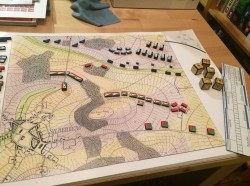 A reconstruction of the Prussian military wargame Kriegsspiel, based on a ruleset developed by Georg Heinrich Rudolf Johann von Reiswitz in 1824, photo by Matthew Kirschenbaum / CC BY 4.0