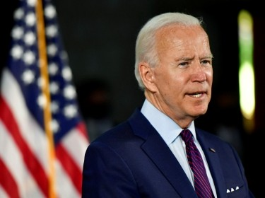 Democratic U.S. presidential candidate and former Vice President Joe Biden speaks during a campaign event in Lancaster, Pennsylvania, June 25, 2020, photo by Mark Makela/Reuters